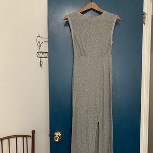 Free People Gray Cotton Maxi Dress